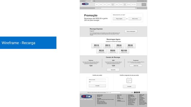 Wireframe - Serviços Financeiros