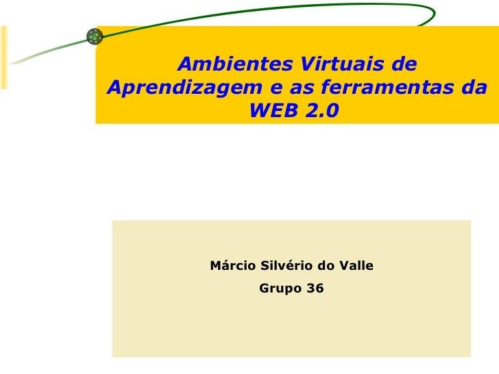 Ambientes Virtuais de Aprendizagem e as ferramentas da WEB 2.0  Márcio Silvério do Valle Grupo 36