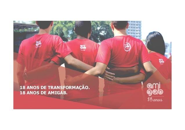18 ANOS DE TRANSFORMAÇÃO. 18 ANOS DE AMIGAB.