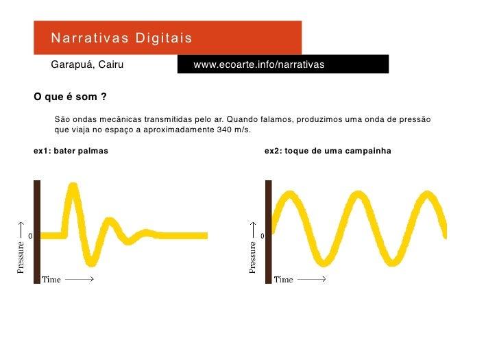 Na r r at i v a s D i gi ta is     Garapuá, Cairu                   www.ecoarte.info/narrativas  O que é som ?      São on...