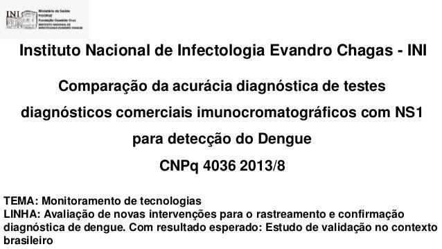 Instituto Nacional de Infectologia Evandro Chagas - INI Comparação da acurácia diagnóstica de testes diagnósticos comercia...