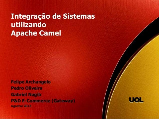 Integração de Sistemas utilizando Apache Camel Felipe Archangelo Pedro Oliveira Gabriel Nagib P&D E-Commerce (Gateway) Ago...