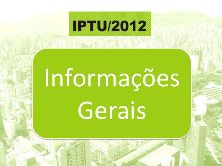 Informações   Gerais  Secretaria Municipal de Finanças