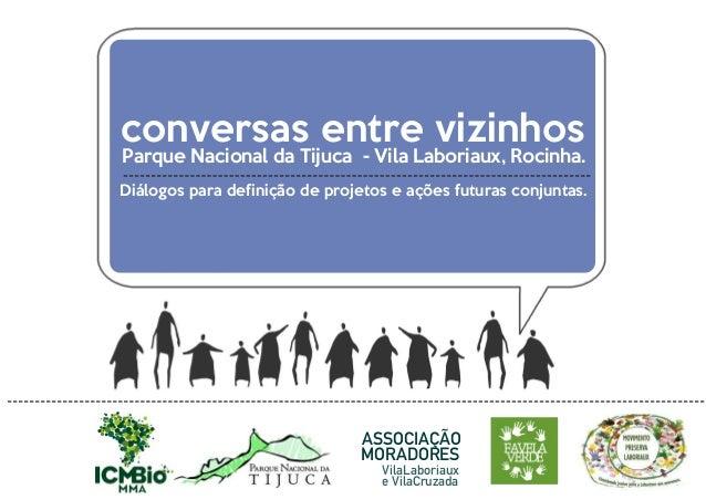 ASSOCIAÇÃO VilaLaboriaux MORADORES Parque Nacional da Tijuca - Vila Laboriaux, Rocinha. Diálogos para definição de projeto...