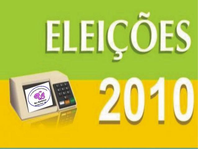 Eleição É todo processo pelo qual um grupo designa um de seus integrantes para ocupar um cargo por meio de votação. Na dem...