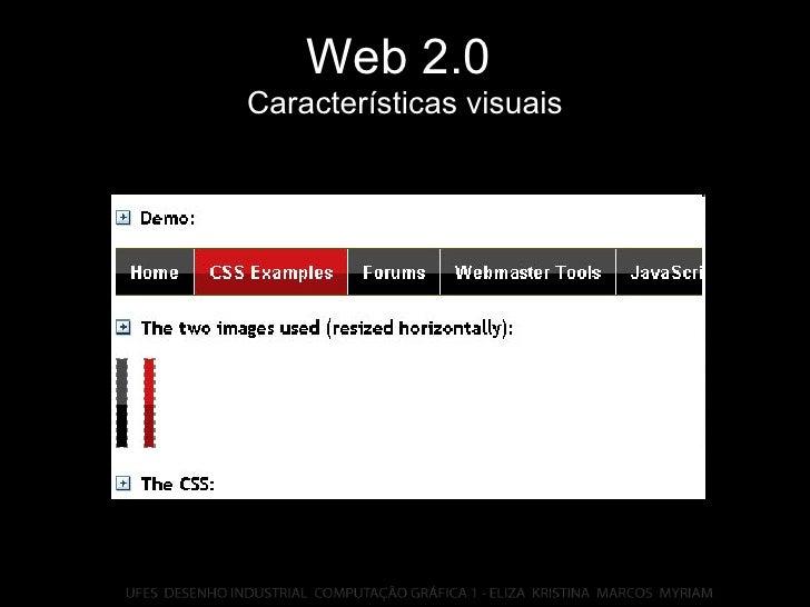 Web 2.0   Características visuais