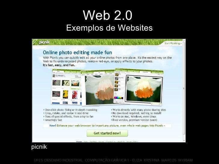 Web 2.0   Exemplos de Websites picnik
