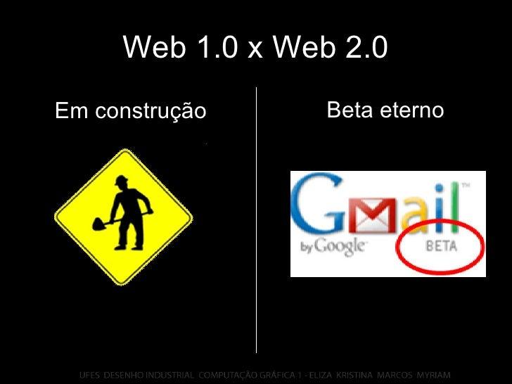 Web 1.0 x Web 2.0 Beta eterno Em construção