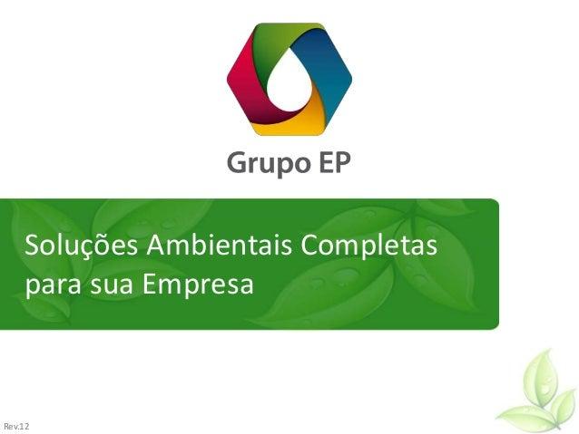Soluções Ambientais Completas para sua Empresa Rev.12