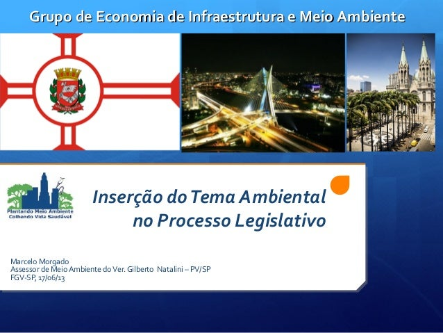 Inserção doTema Ambientalno Processo LegislativoMarcelo MorgadoAssessor de Meio Ambiente doVer. Gilberto Natalini – PV/SPF...