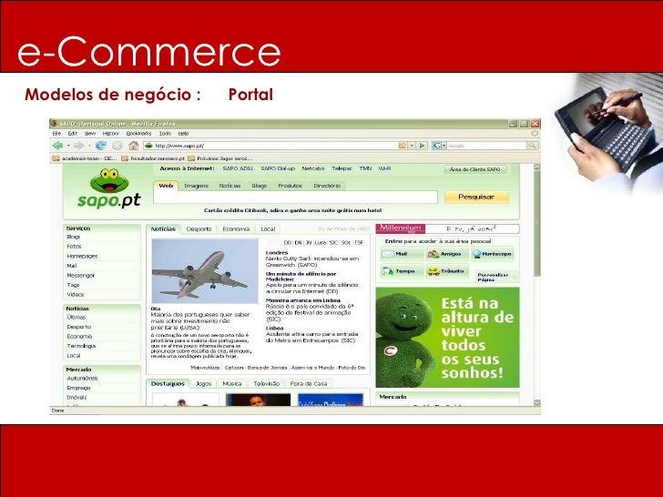 e-Commerce Modelos de negócio :  Portal