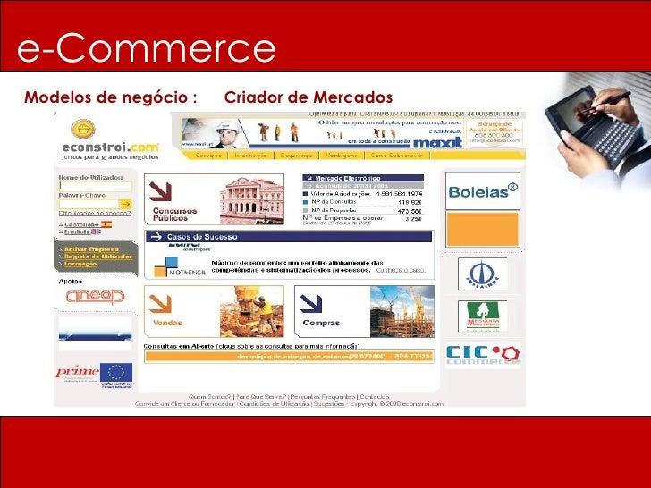 e-Commerce Modelos de negócio :  Criador de Mercados