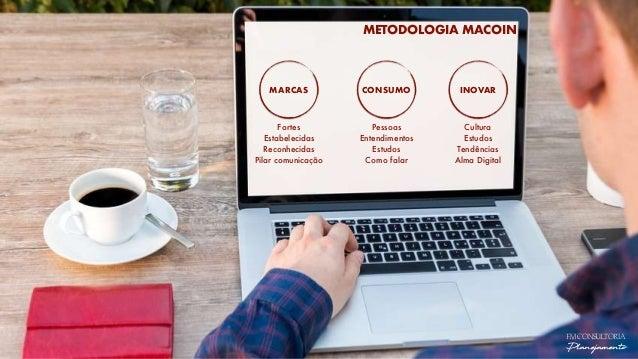 METODOLOGIA MACOIN MARCAS CONSUMO INOVAR Fortes Estabelecidas Reconhecidas Pilar comunicação Pessoas Entendimentos Estudos...