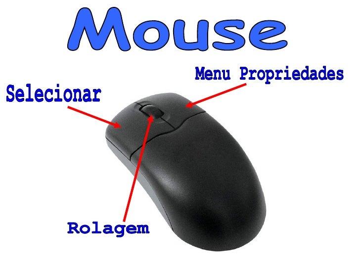 Mouse Selecionar Menu Propriedades Rolagem