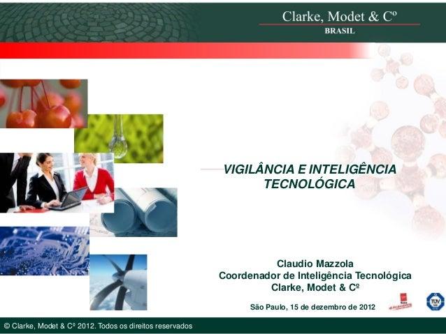 VIGILÂNCIA E INTELIGÊNCIA                                                                TECNOLÓGICA                      ...