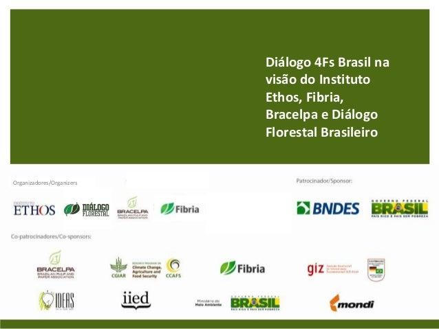 Diálogo 4Fs Brasil na                           visão do Instituto                           Ethos, Fibria,               ...