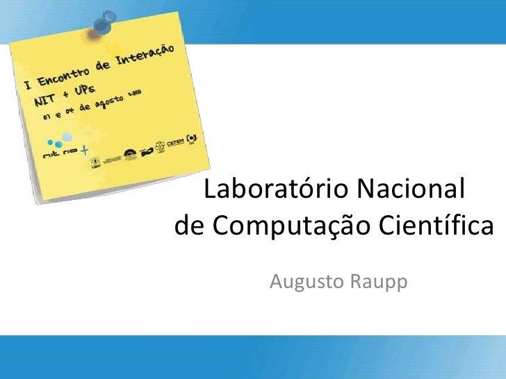 Laboratório Nacional de Computação Científica