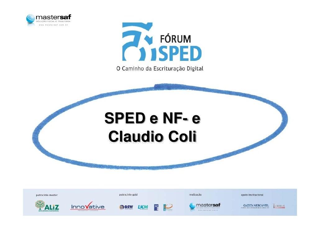 SPED e NF- e Claudio Coli