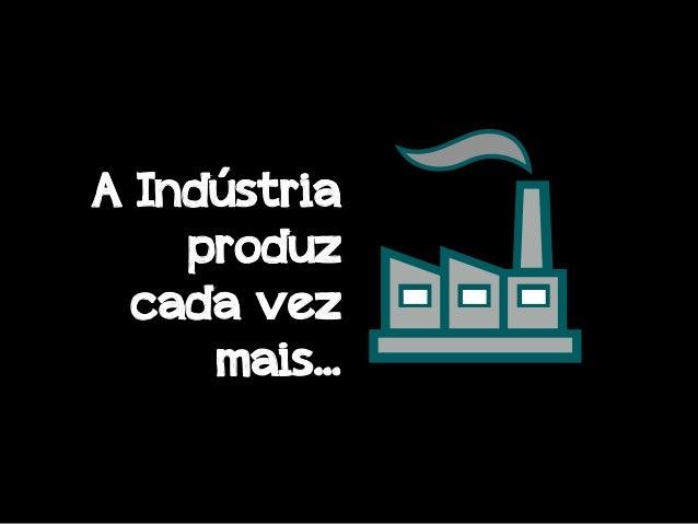 A Indústria produz cada vez mais...