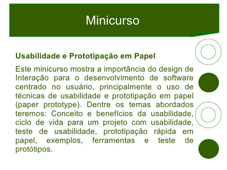 Usabilidade com Paper Prototype Slide 3