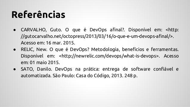 DevOps II - Ambientes padronizados e Monitoramento da Aplicação   Monografia II