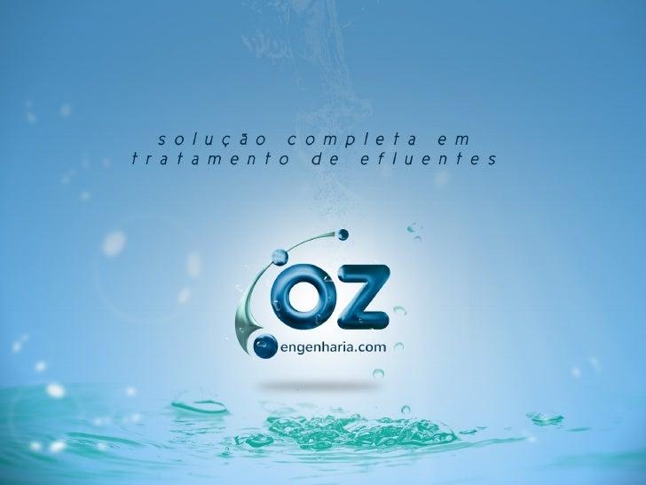 Capa: Trata OZ + MBROZ: solução completa em tratamento de efluentes.
