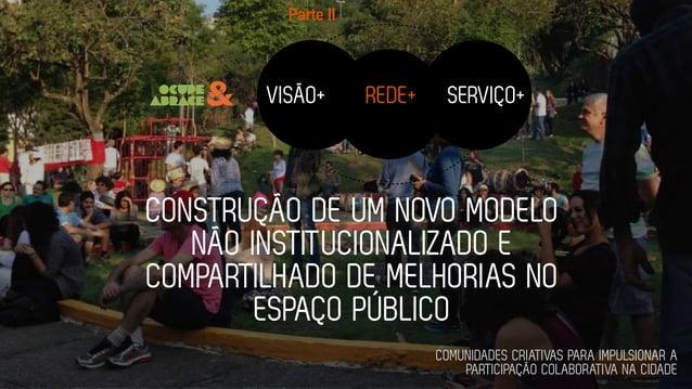 CONSTRUÇÃO DE UM NOVO MODELO NÃO INSTITUCIONALIZADO E COMPARTILHADO DE MELHORIAS NO ESPAÇO PÚBLICO VISÃO+ ! REDE+ ! SERVIÇ...