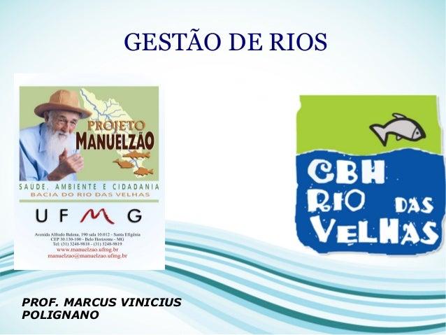 GESTÃO DE RIOS PROF. MARCUS VINICIUS POLIGNANO