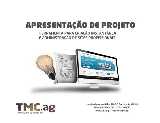 Uma ferramenta informatizada para criação instantânea de sites empresariais pro ssionais com conteúdo e design con gurávei...