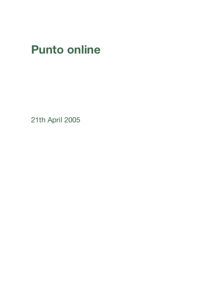 Punto online21th April 2005