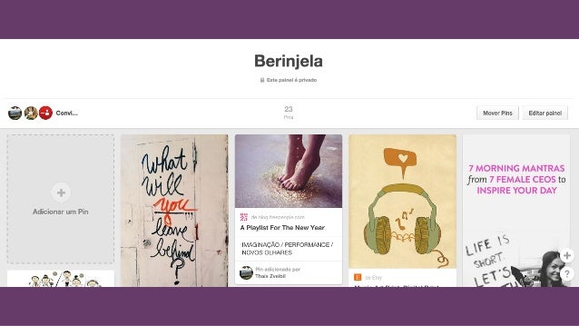 Berinjela  'l T_   ¡  conví. ..  fxdTcIOna' um Pin T 7 __.  T 95  â A Playlist For The New Year v  › ã « ,  3':  . IMAGINA...