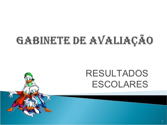 RESULTADOS ESCOLARES  1