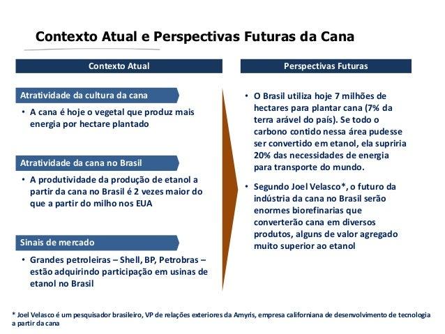 Contexto Atual e Perspectivas Futuras da CanaContexto Atual Perspectivas FuturasAtratividade da cultura da cana• A cana é ...
