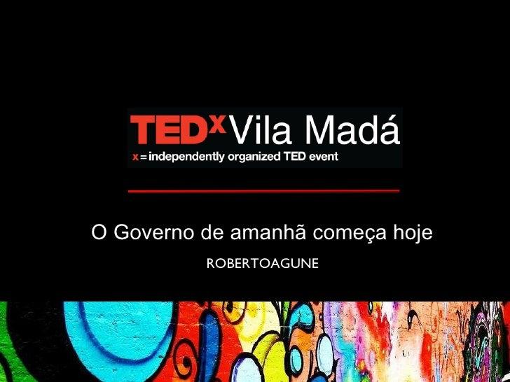 Marina Amaral  O Governo de amanhã começa hoje  ROBERTOAGUNE