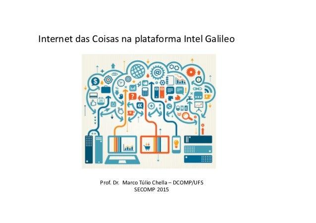 Internet das Coisas na plataforma Intel Galileo Prof. Dr. Marco Túlio Chella – DCOMP/UFS SECOMP 2015