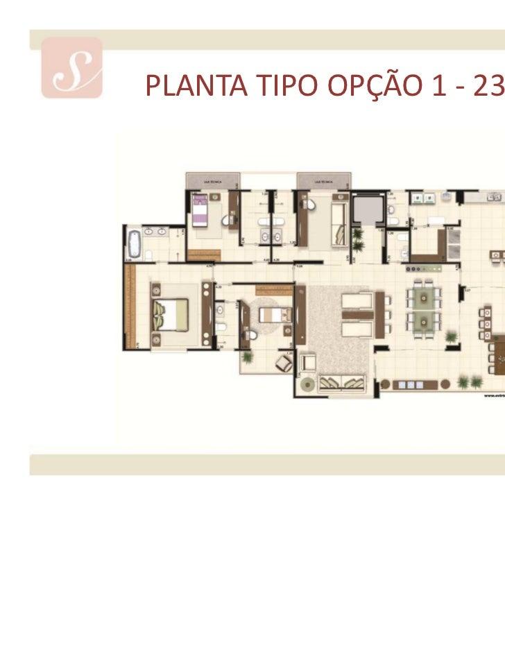 PLANTA TIPO OPÇÃO 2 - 235 m²Material provisório de consulta interna do corretor. Sujeito a alteração.