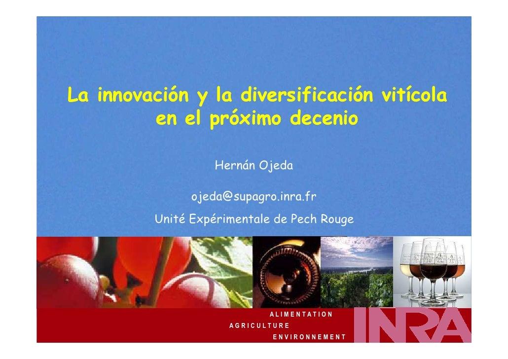 Hernán Ojeda                                 Colchagua / Carmenère 25-27/11/2009         La innovación y la diversificació...