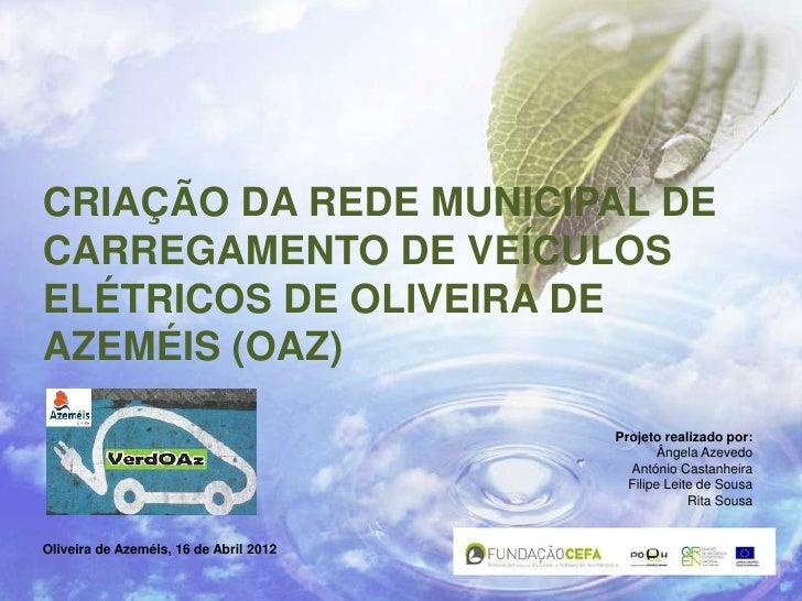 CRIAÇÃO DA REDE MUNICIPAL DECARREGAMENTO DE VEÍCULOSELÉTRICOS DE OLIVEIRA DEAZEMÉIS (OAZ)                                 ...