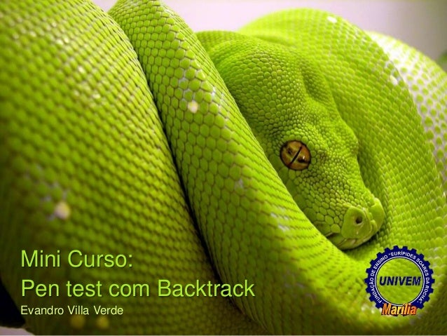 Mini Curso:Pen test com BacktrackEvandro Villa Verde
