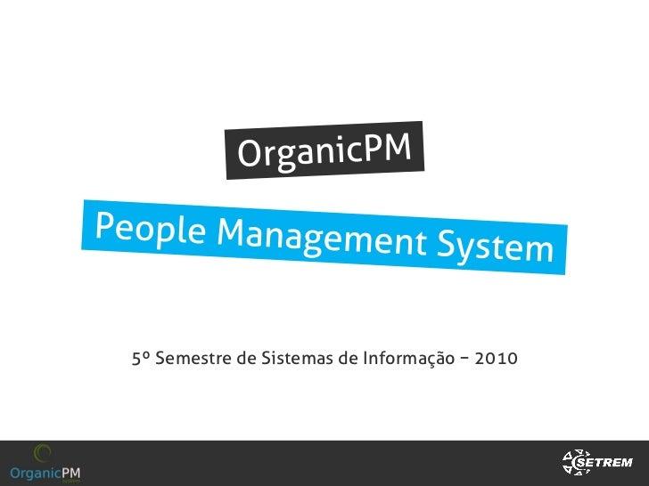 5º Semestre de Sistemas de Informação − 2010