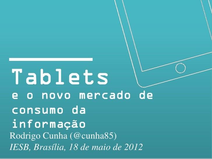 çãRodrigo Cunha (@cunha85)IESB, Brasília, 18 de maio de 2012