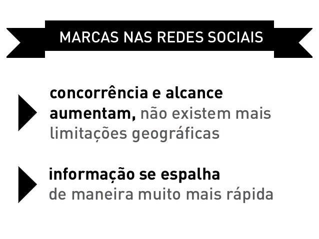 Marcas Nas REDES sociaisconcorrência e alcanceaumentam, não existem maislimitações geográficasinformação se espalhade mane...