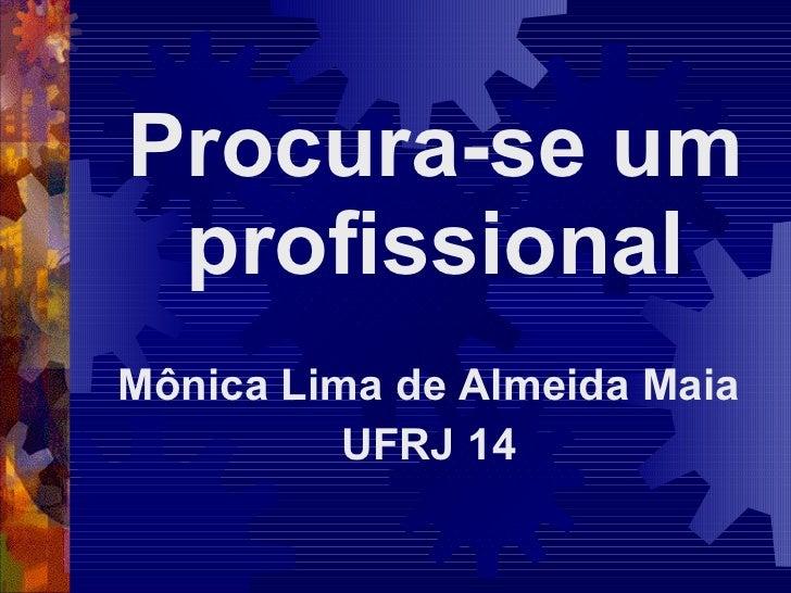 Procura-se um profissional Mônica Lima de Almeida Maia UFRJ 14