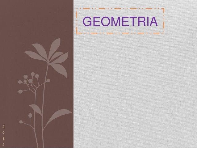 GEOMETRIA2012