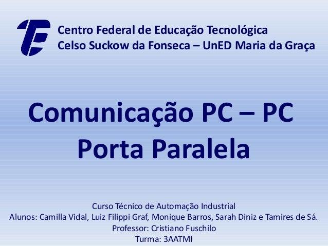 Centro Federal de Educação Tecnológica             Celso Suckow da Fonseca – UnED Maria da Graça     Comunicação PC – PC  ...