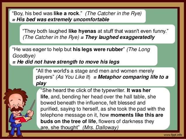 metaphors in catcher in the rye