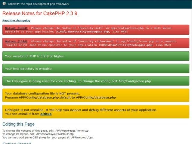 Configurando DB app/Config/database.php (linha 197)