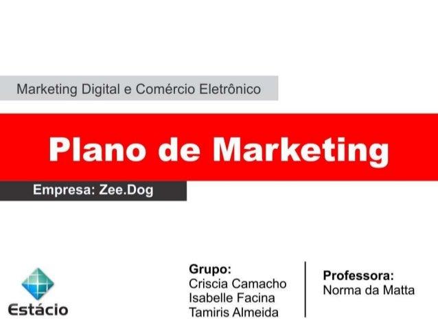 Plano de Marketing ZeeDog