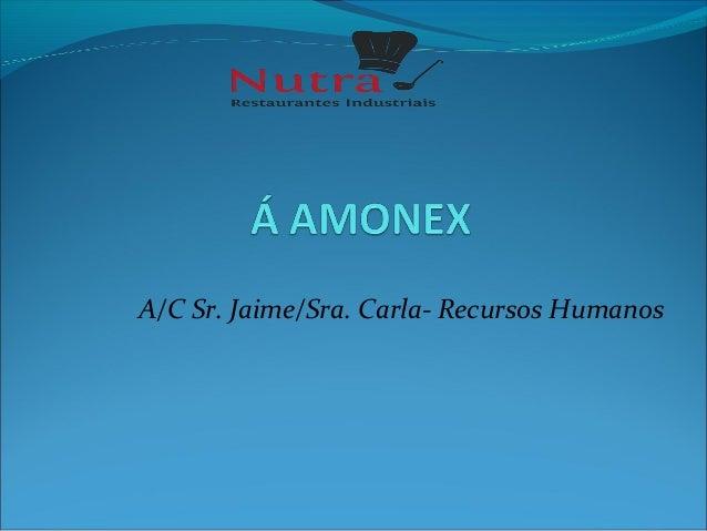 A/C Sr. Jaime/Sra. Carla- Recursos Humanos