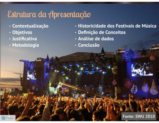 &trutura da 'flpreoeiúação  - Historicidade dos Festivais de Música  - Deñnição de Conceitos  - Análise de dados  - Conclu...
